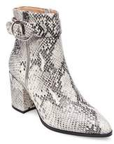 Steven by Steve Madden Snake Print Leather Booties