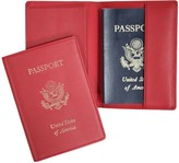 Royce Leather Royce New York Leather Foil Stamped Passport Jacket