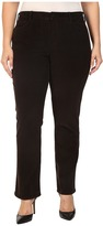 NYDJ Plus Size Plus Size Marilyn Straight Jeans in Corduroy in Molasses