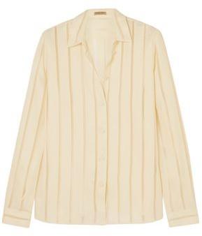 Bottega Veneta Striped Silk-blend Chiffon Blouse