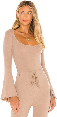 Majorelle Bell Sleeve Top