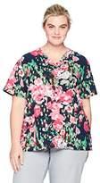 Carhartt Women's Plus Size Cross-Flex Print Media Scrub Top