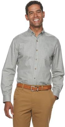 Croft & Barrow Men's Easy-Care Twill Woven Button-Down Shirt