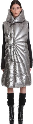 Moncler + Rick Owens Porteville Puffer In Silver Polyamide