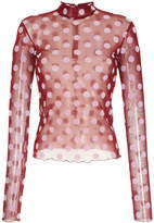 G.V.G.V. polka dot funnel neck fitted top