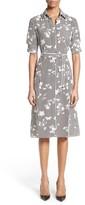 Altuzarra Women's Floral Stripe Silk Shirtdress