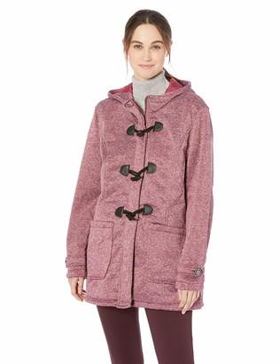 Yoki Women's Plus Size Toggle Fleece Jacket Outerwear