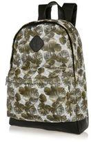 River Island Green Leaf Print Mesh Backpack