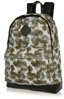 River Island MensGreen leaf print mesh backpack