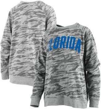 Unbranded Women's Pressbox Camo Florida Gators Gulfport French Terry Raglan Pullover Sweatshirt