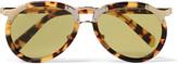 Prada Aviator-Style Tortoiseshell Acetate and Gold-Tone Sunglasses
