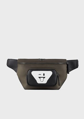Emporio Armani Nylon Belt Bag With Emoji Print