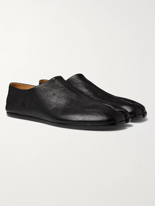 Maison Margiela Tabi Split-Toe Full-Grain Leather Collapsible-Heel Loafers