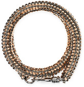 Swarovski Skinny Double Bolster Bracelet, Palladium plating
