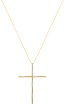Bliss Gold & Cubic Zirconia Cross Pendant Necklace