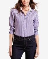 Lauren Ralph Lauren Petite Striped Stretch Shirt