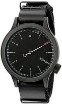 Komono Unisex KOM-W1904 Magnus The One Analog Display Japanese Quartz Black Watch