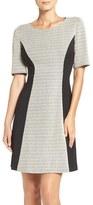 London Times Zigzag Knit A-Line Dress