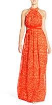 Jay Godfrey &Paris& Halter Cutout Gown