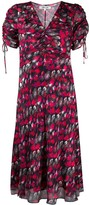 Diane von Furstenberg floral print ruched dress