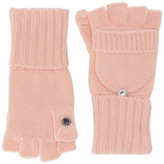 Calvin Klein Women's Knitted Convertible Fingerless Gloves with Mitten Flap Cover