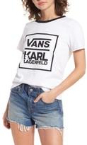 Vans Women's X Karl Lagerfeld Ringer Tee