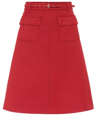 RED Valentino High-rise A-line midi skirt