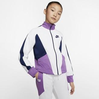 Nike Big Kids (Girls) Full-Zip Jacket Sportswear Heritage