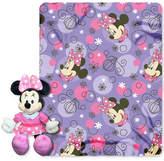 "Disney Minnie Mouse ""Perfume Pretty"" Hugger Pillow & Throw Set Bedding"