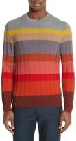 Paul Smith Men's Multistripe Merino Cable Knit Sweater