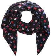 Armani Jeans All Over Dotty Print Navy Scarf