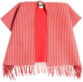 Fendi Striped Doubled Knitted Wool Cape