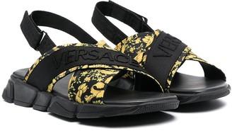 Versace TEE logo-print sandals