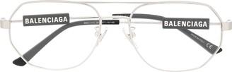 Balenciaga Logo Aviator Glasses