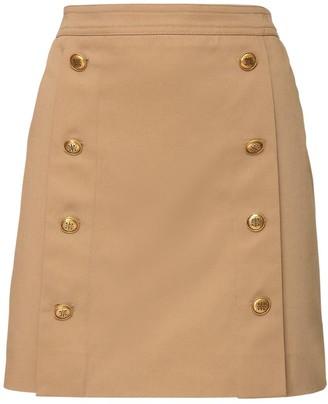 Givenchy High Waist Cotton Canvas Mini Skirt