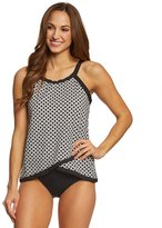 Penbrooke Center Spot High Neck Tankini Top 8150429