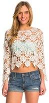 MinkPink Build Me Up Crochet Top 8143415