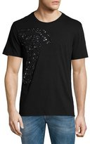 Versace Studded Medusa Head Short-Sleeve T-Shirt, Black
