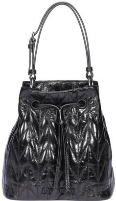 Miu Miu Shiny Calf Quilted Bucket Bag