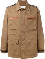 Fashion Clinic Timeless - embroidered trim field jacket - men - Cotton/Spandex/Elastane - 44
