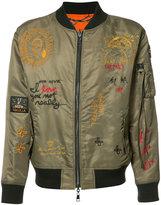 Haculla - embroidered reversible bomber jacket - men - Nylon - S