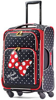 American Tourister Minnie Mouse Red Bow 19-Inch Spinner Carry-On Expandable Suitcase