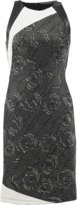 J. Mendel Halter Dress With Leather Back
