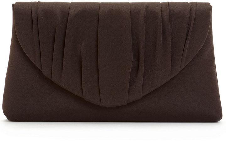 La Regale Handbag, Pleated V Shirred Clutch