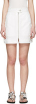 Isabel Marant White Workwear Denim Demie Miniskirt