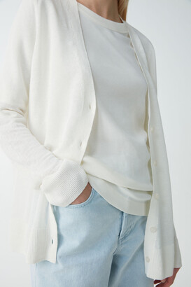 Cos Linen-Mulberry Silk Cardigan