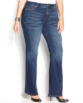 INC International Concepts Plus Size Tummy-Control Bootcut Jeans, Percy Wash