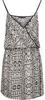 Vix Paula Hermanny Vix Paulahermanny Sphinx Wrap-Effect Snake-Print Voile Mini Dress