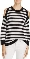 Rag & Bone Tracey Stripe Cold Shoulder Sweater