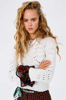 Urban Outfitters UO Libby Pointelle Crew Neck Sweater